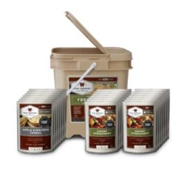 Wise freeze-dried food in a bucket